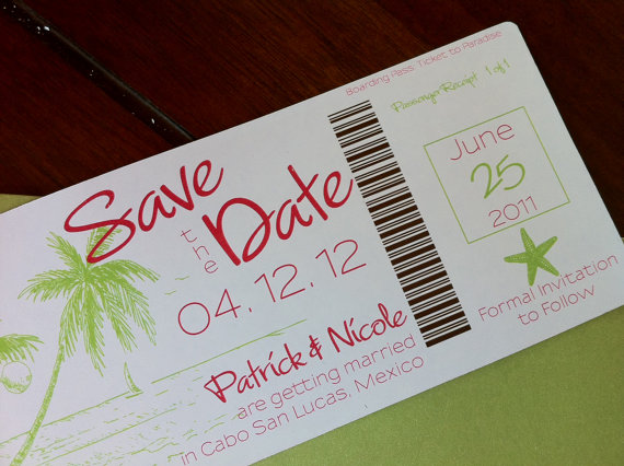 travel theme save the date