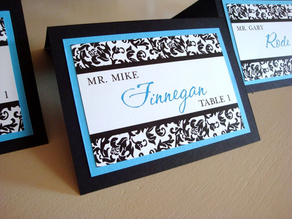 damask escort cards