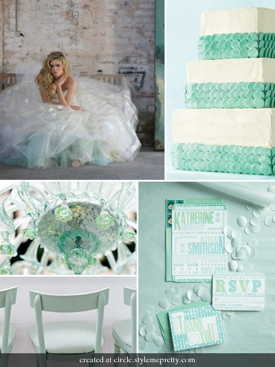 teal wedding details