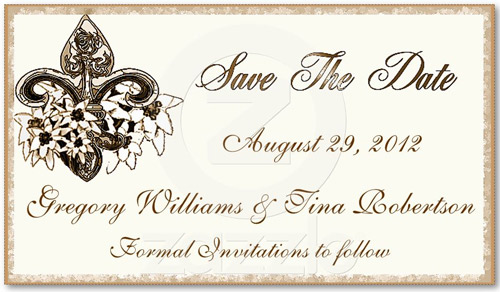 business card save the date