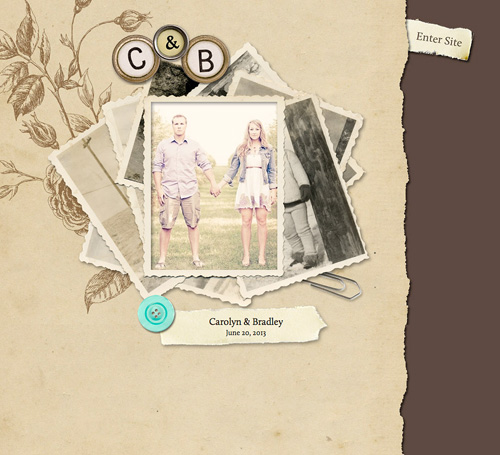 vintage style wedding websites