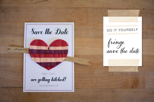 diy wedding save the date