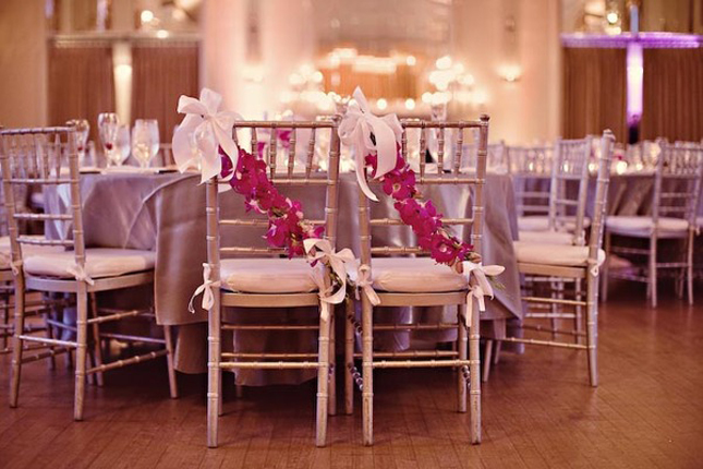 flower wedding chairs