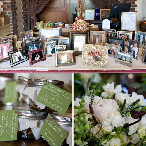 wedding family photo table