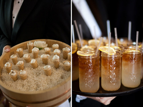 custom wedding food and drinks