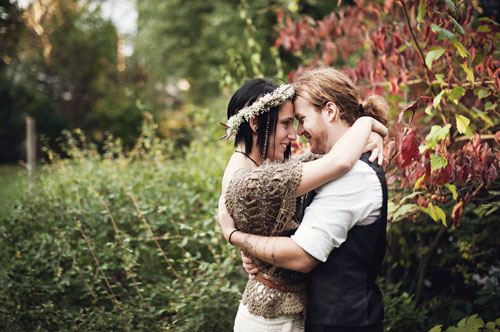earthy backyard wedding