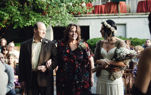 earthy wedding ceremony