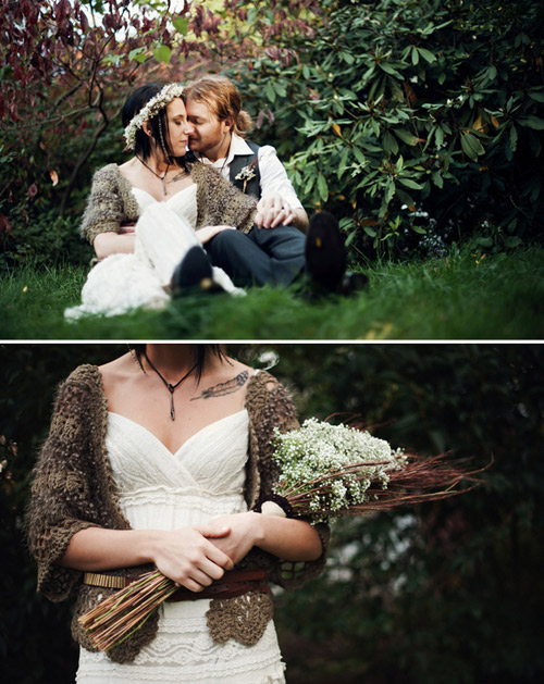 rustic wedding portraits