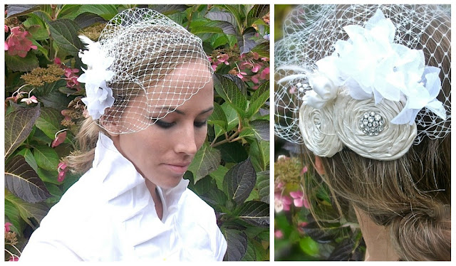 diy birdcage wedding veil