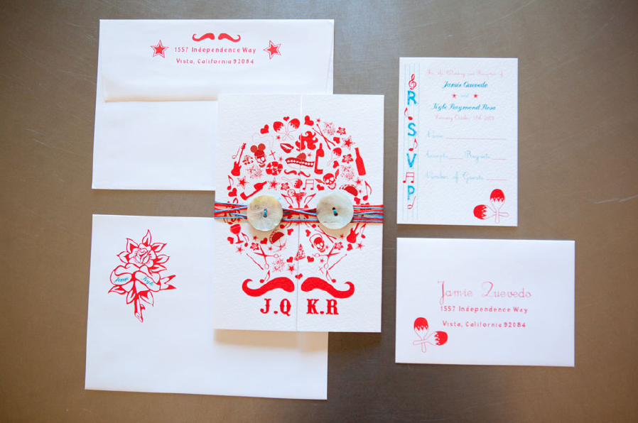 Day of the Dead Wedding Invitation Suite