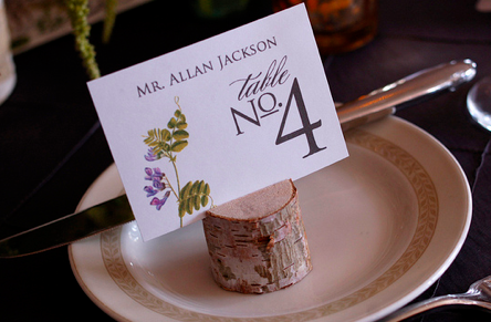 birch escort card holders