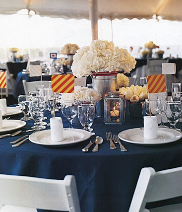 nautical wedding table decor