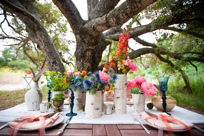 birch tree wedding decor
