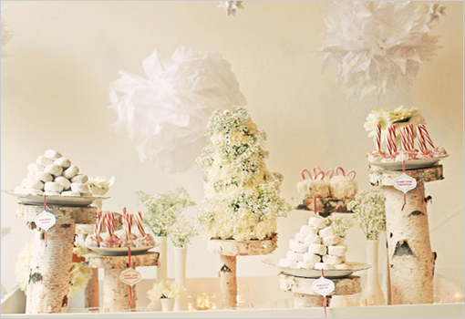 birch tree wedding display