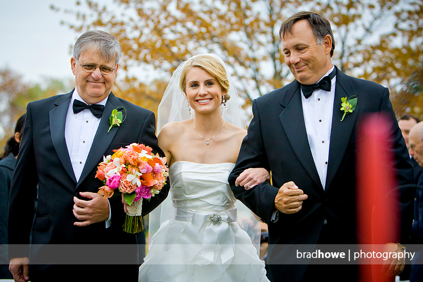 bride with two dads down aisle