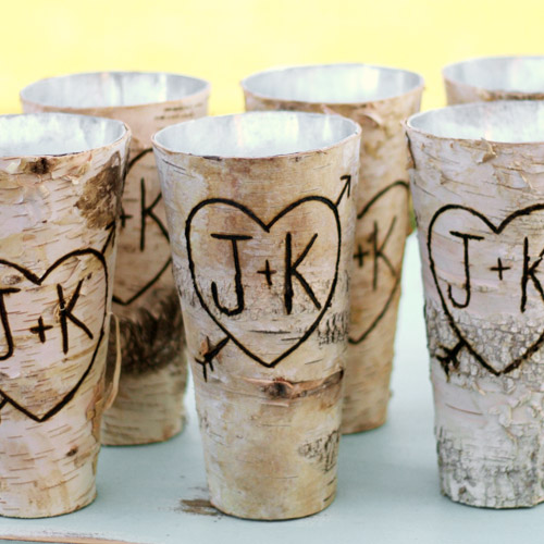 birch bark wedding favors