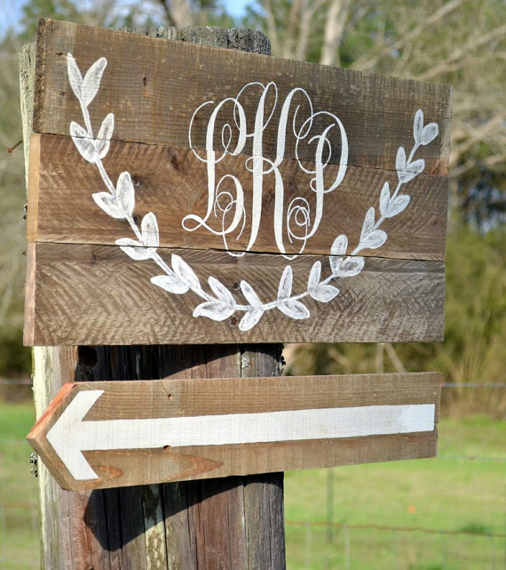 monogram wedding signs