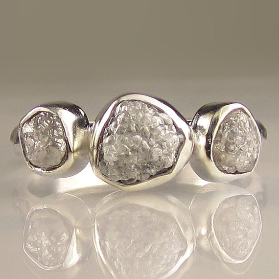 Wedding Jewelry Rings Rough Diamonds on Etsy