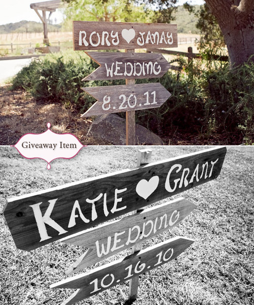 wedding sign giveaway