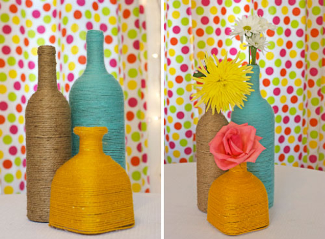 DIY Bottle Centerpieces