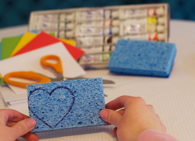 DIY Sponge Stamped Cards
