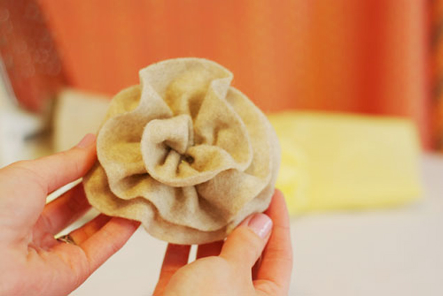 DIY Wedding Project Fabric Flower Tutorial
