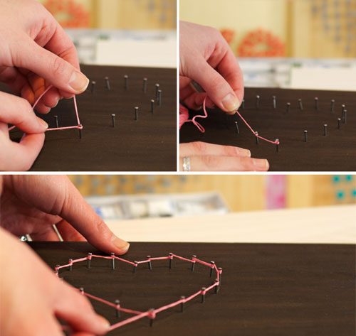 diy nail art e string
