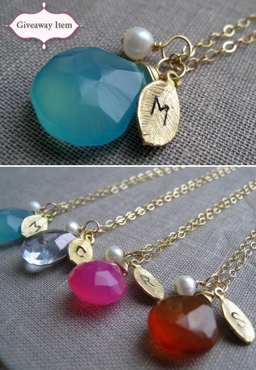 custom initial bridesmaid necklaces