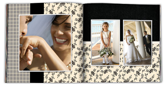 custom wedding photo books