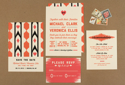 modern design wedding invitations