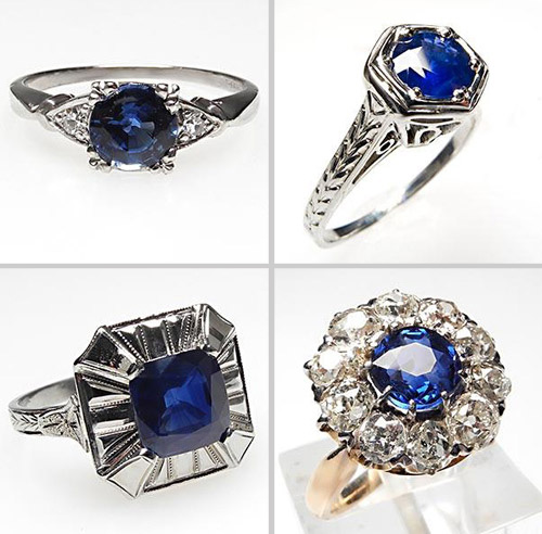 antique sapphire engagement rings