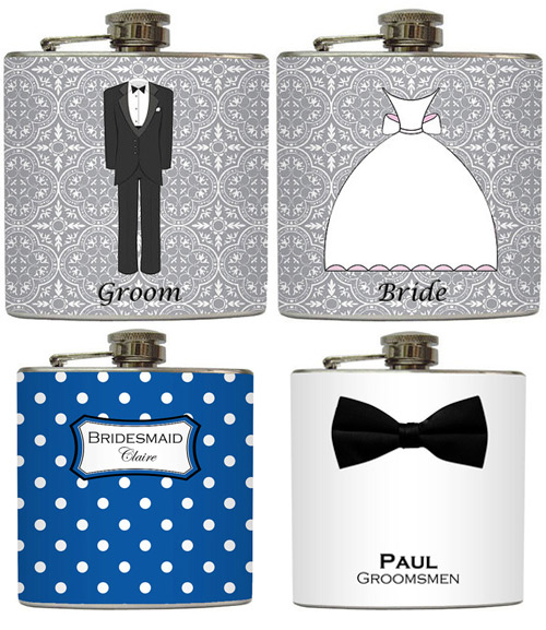 wedding flasks giveaway