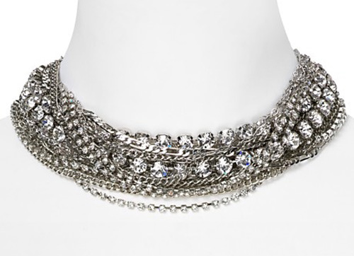 chunky layered bridal necklace