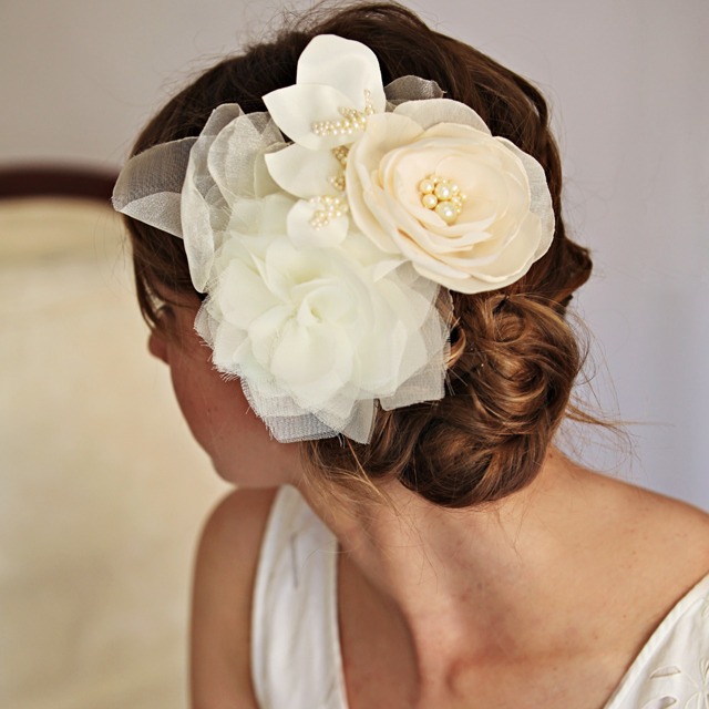 beautiful bridal hairpieces