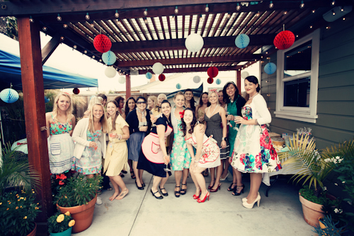 vintage backyard bridal shower