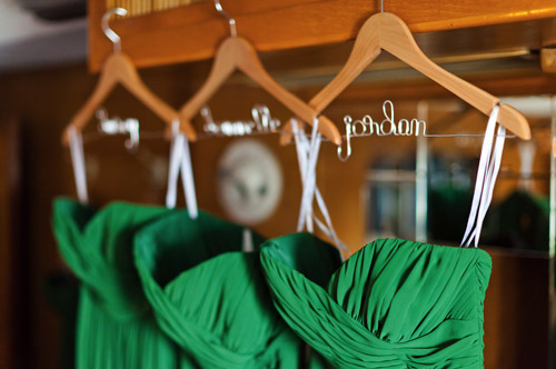 custom bridesmaid dress hangers
