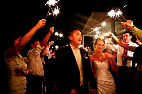 sparkler wedding pictures