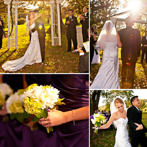 outdoor sunny wedding ceremony