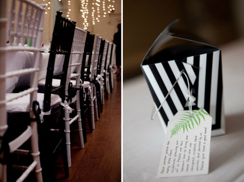 black and white wedding favor boxes