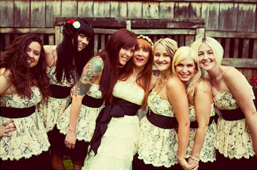 lacey bridesmaid dresses