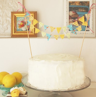 bunting banner cake toppers