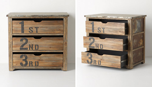 rustic Anthropologie dresser