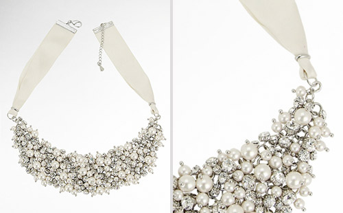 chunky bib bridal necklace