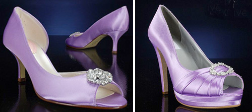 Wedding Shoes: Purple Bridal Shoes