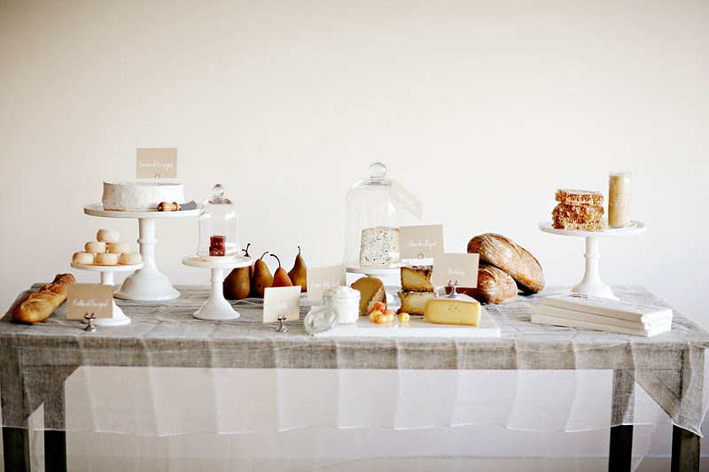bridal shower cheese table