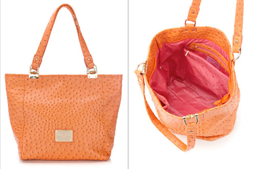 bright orange summer bag