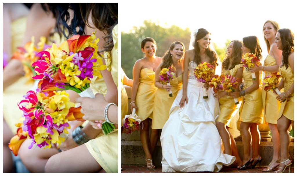 Bright Coloured Bridesmaid Dresses: Wedding Colors: Bright Summer Inspiration