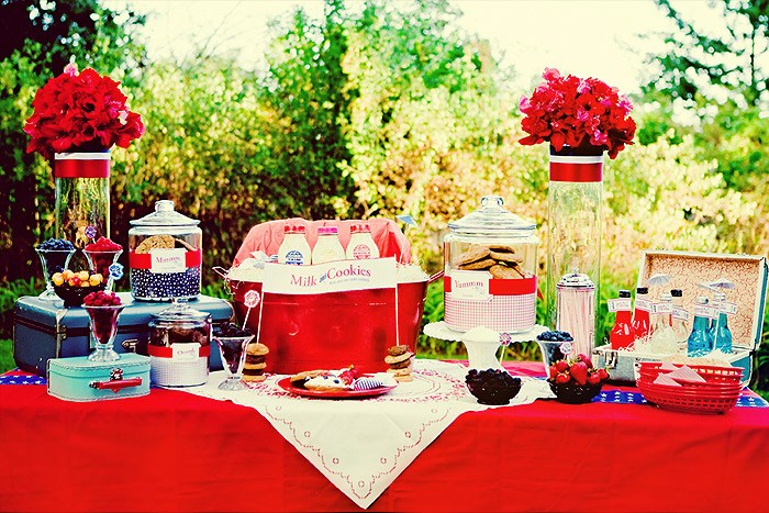 Wedding inspiration bridal shower themes for Backyard engagement party decoration ideas