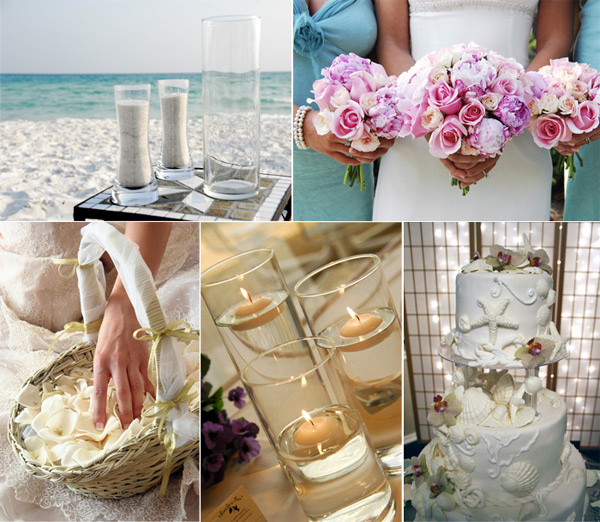 Beach Themed Decor: Wedding Theme: Beach Wedding