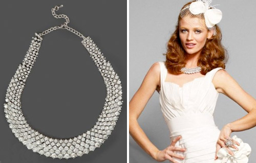 chunky crystal bridal necklace